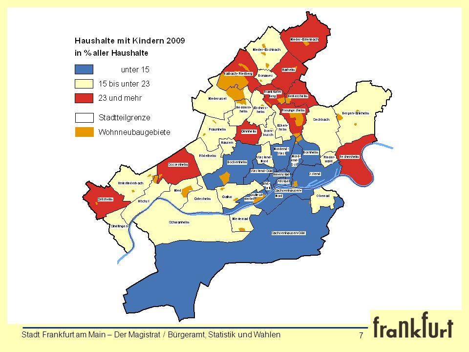 Stadt Frankfurt am Main – Der Magistrat / Bürgeramt, Statistik und Wahlen Anke Wörner 7 Stadt Frankfurt am Main – Der Magistrat / Bürgeramt, Statistik