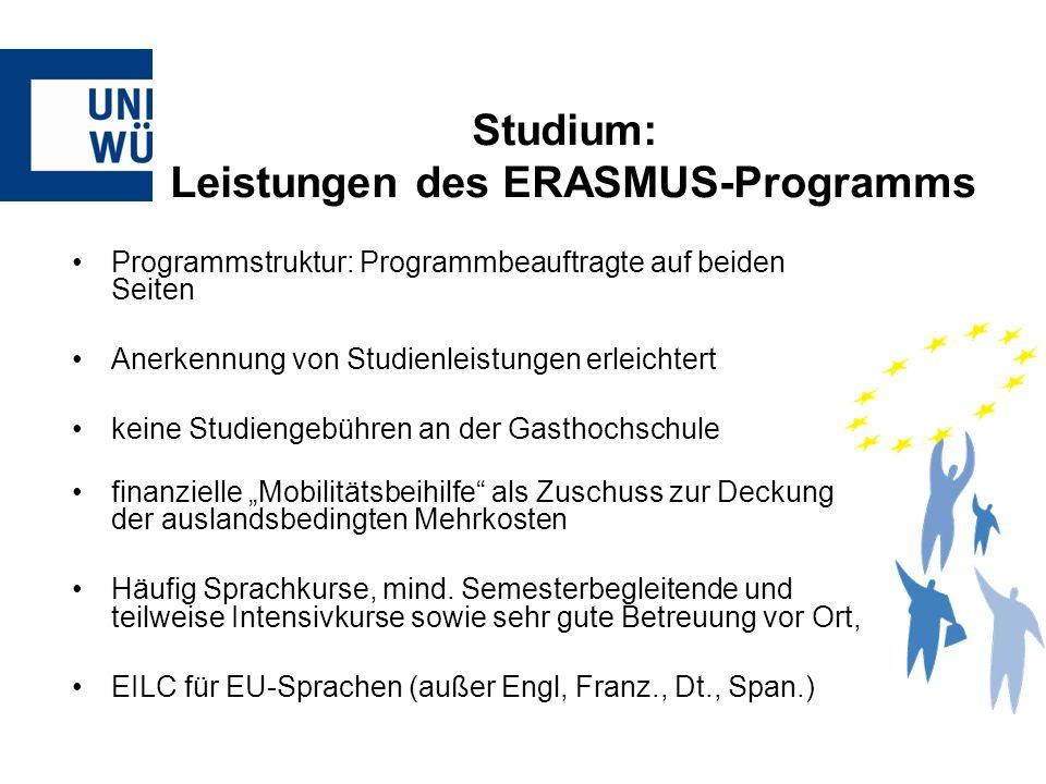 Programmstruktur: Programmbeauftragte auf beiden Seiten Anerkennung von Studienleistungen erleichtert keine Studiengebühren an der Gasthochschule fina