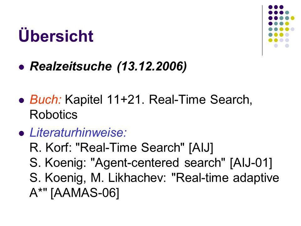 Übersicht Realzeitsuche (13.12.2006) Buch: Kapitel 11+21.