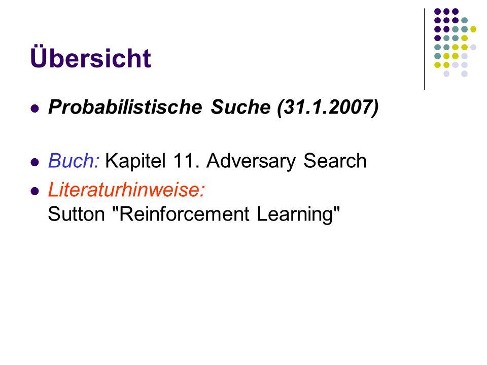 Übersicht Probabilistische Suche (31.1.2007) Buch: Kapitel 11.