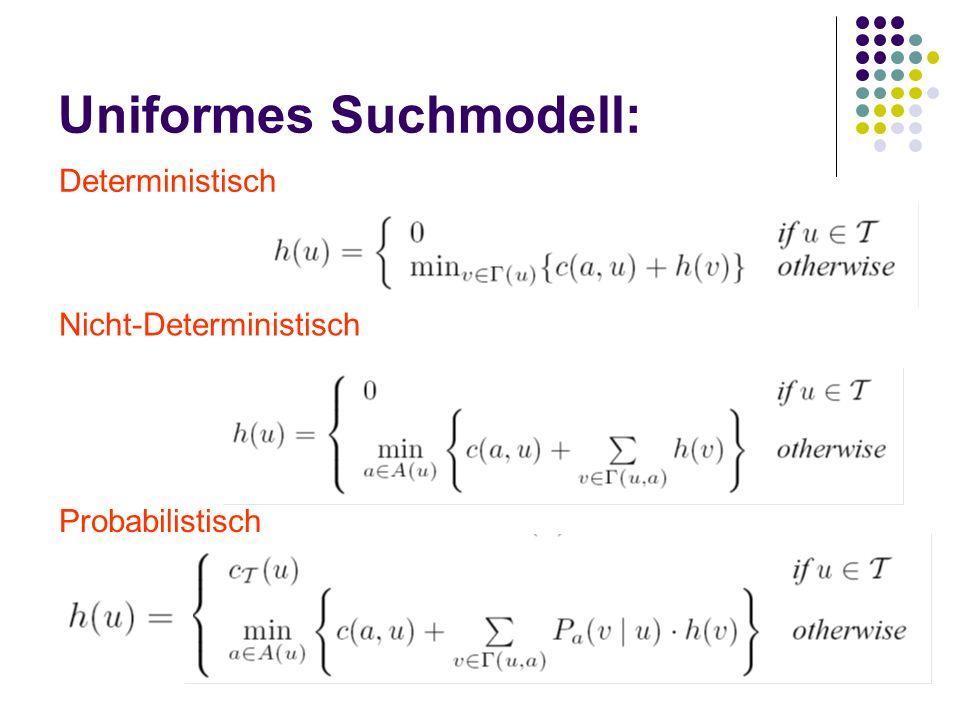 Uniformes Suchmodell: Deterministisch Nicht-Deterministisch Probabilistisch