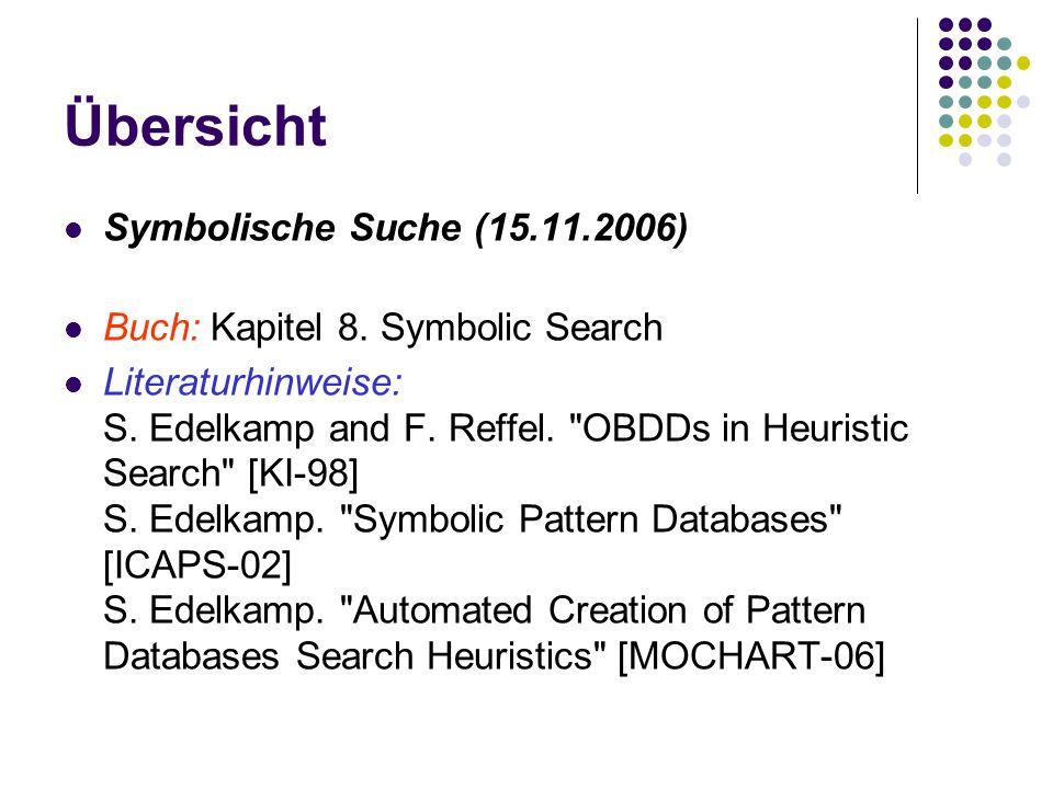 Übersicht Symbolische Suche (15.11.2006) Buch: Kapitel 8.