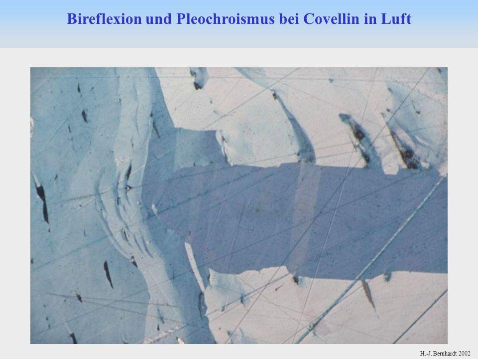 H.-J. Bernhardt 2002 Bireflexion und Pleochroismus bei Covellin in Luft