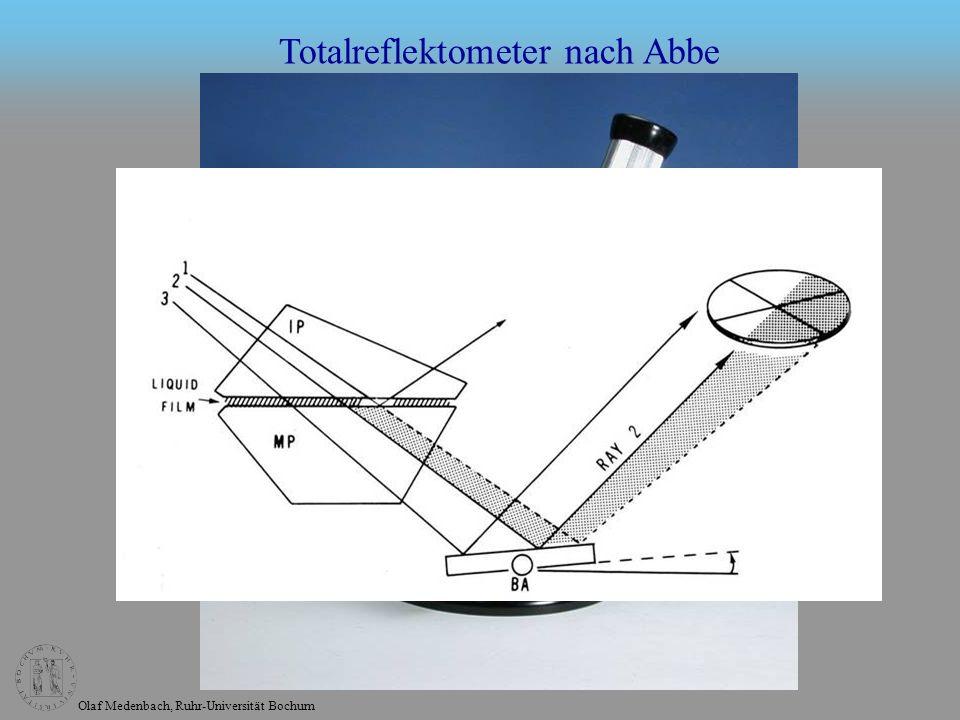Olaf Medenbach, Ruhr-Universität Bochum Totalreflektometer nach Abbe