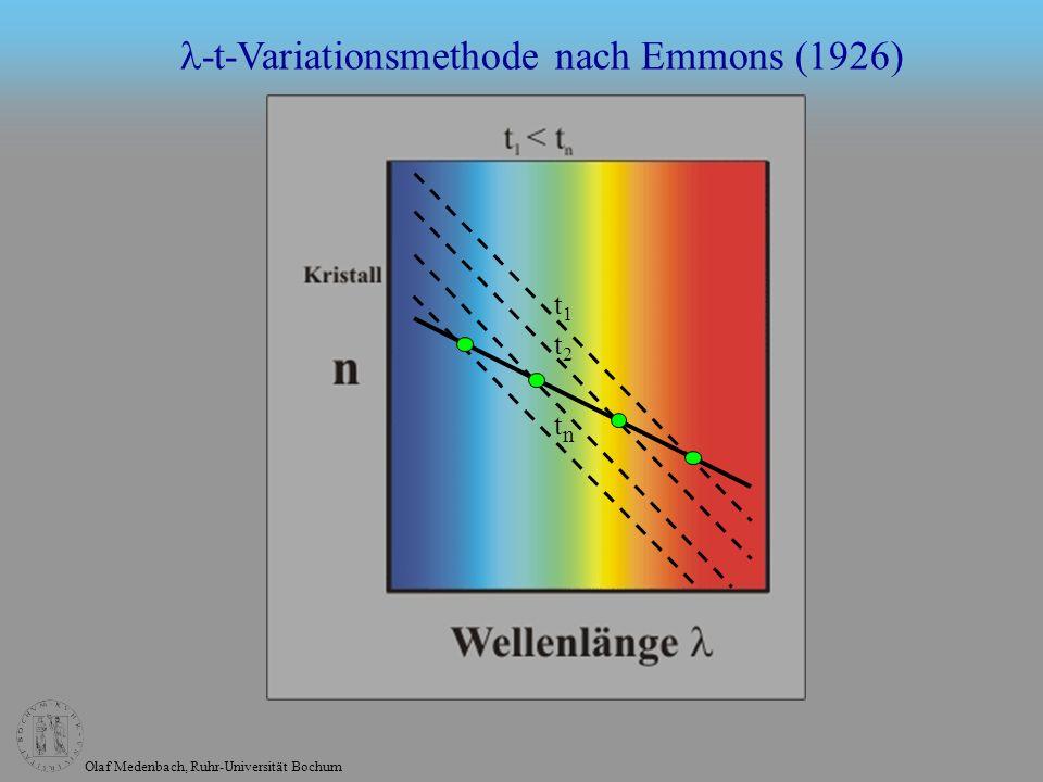 Olaf Medenbach, Ruhr-Universität Bochum -t-Variationsmethode nach Emmons (1926) t1t1 t2t2 tntn