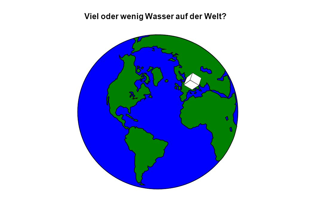 Viel oder wenig Wasser auf der Welt?
