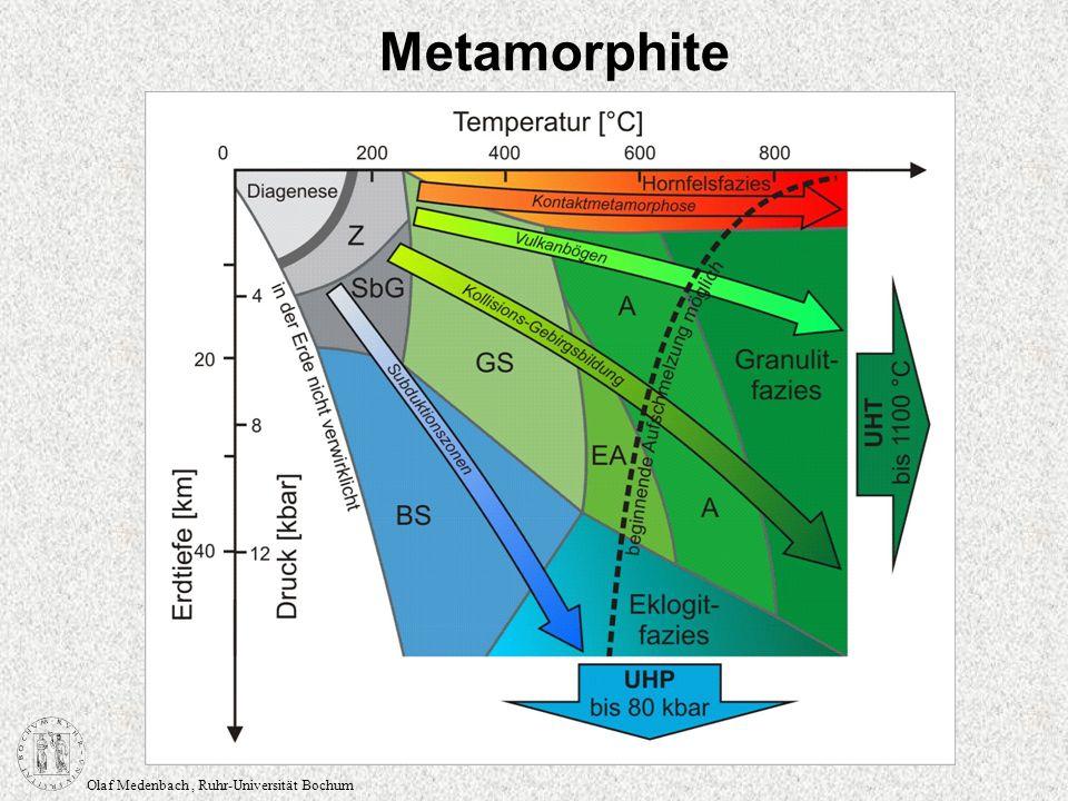 Olaf Medenbach, Ruhr-Universität Bochum Gefüge subophitisch, Verwachsung von Klinopyroxen und Feldspat, wobei die Korngröße des Feldspats größer ist als die des Pyroxens hyalophitisch, dito, aber Glas und/oder Sekundärminerale umhüllen den Feldspat