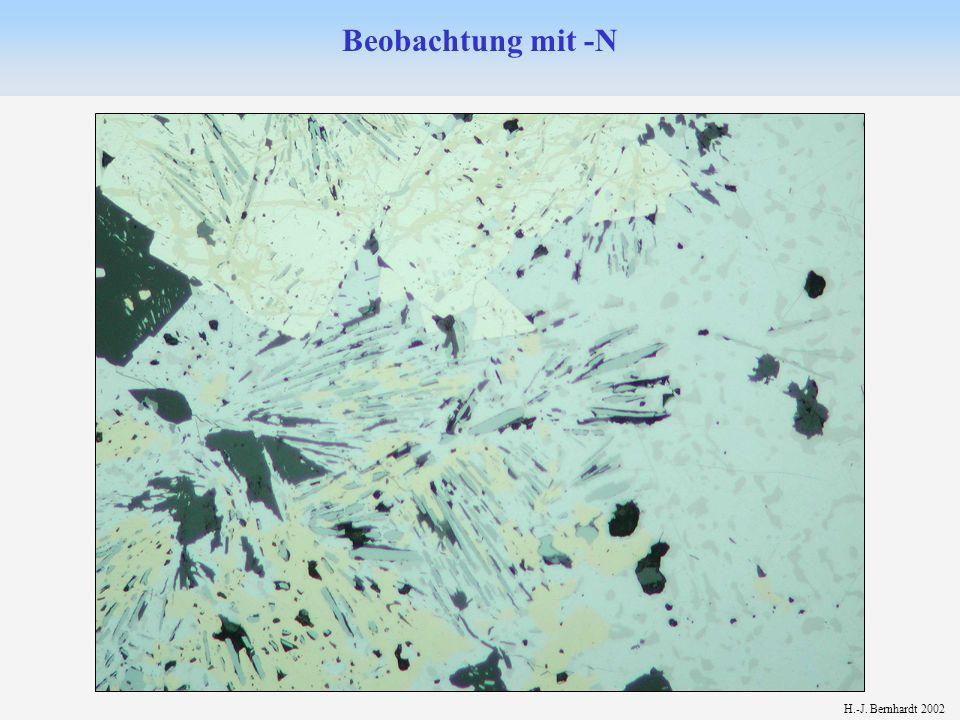 H.-J.Bernhardt 1. Eigenschaften bei nicht gekreuzten Polarisatoren (-N) 2.