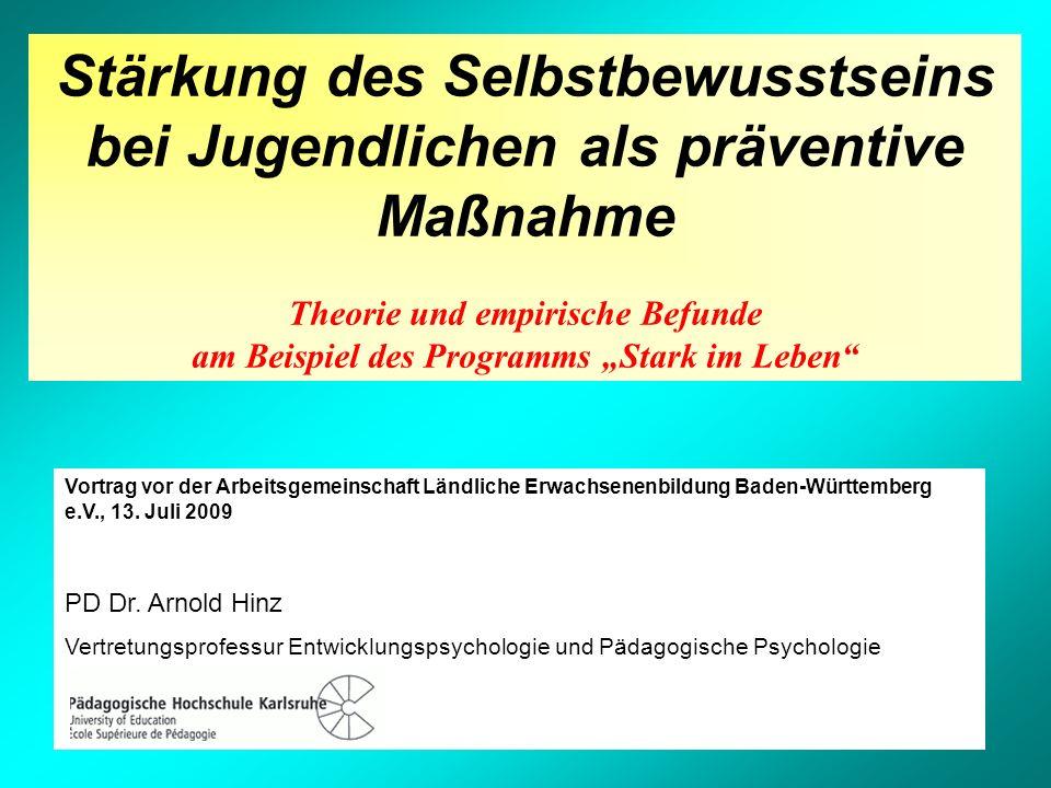 Vortrag vor der Arbeitsgemeinschaft Ländliche Erwachsenenbildung Baden-Württemberg e.V., 13. Juli 2009 PD Dr. Arnold Hinz Vertretungsprofessur Entwick