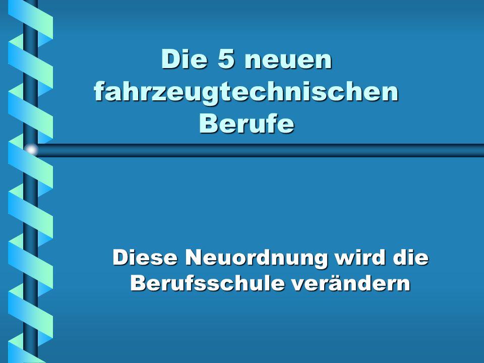Die Fahrzeugberufe KraftfahrzeugmechatronikerKraftfahrzeugmechatroniker Mechaniker für Karosserie- und FahrzeugbautechnikMechaniker für Karosserie- und Fahrzeugbautechnik ZweiradmechanikerZweiradmechaniker Land- und BaumaschinenmechanikerLand- und Baumaschinenmechaniker Mechaniker für KarosserieinstandhaltungstechnikMechaniker für Karosserieinstandhaltungstechnik