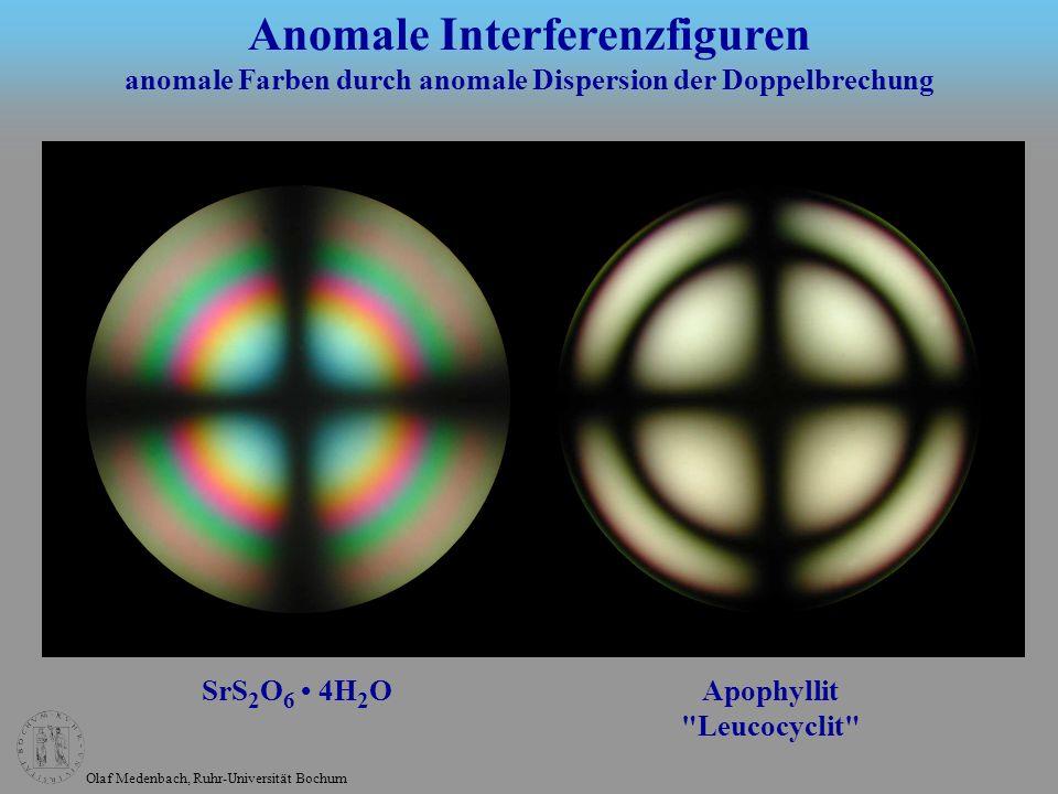 Olaf Medenbach, Ruhr-Universität Bochum SrS 2 O 6 4H 2 O Apophyllit
