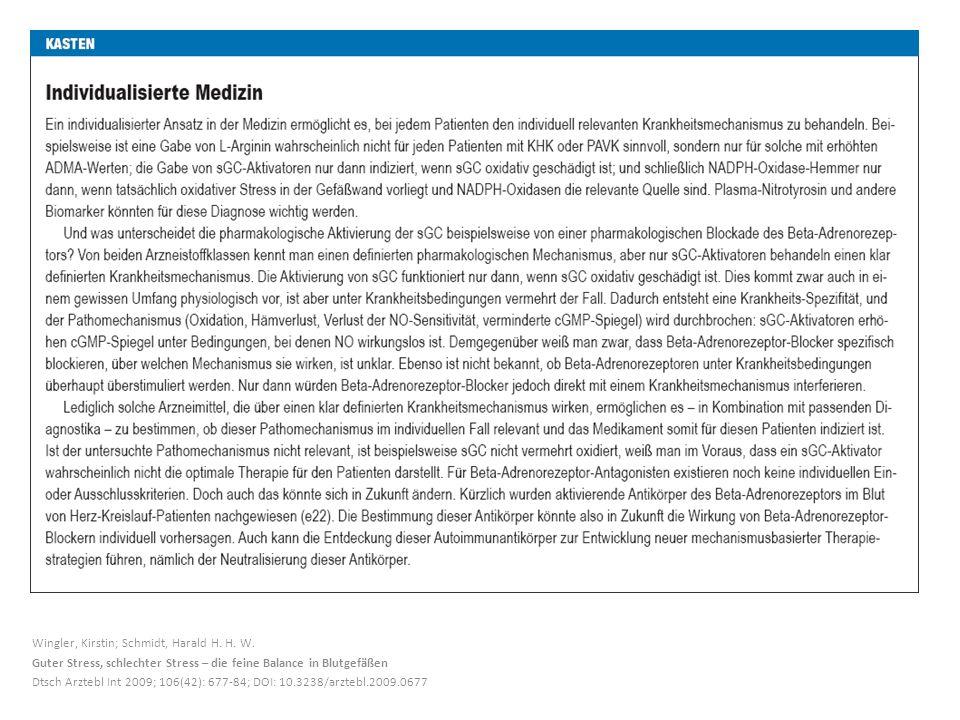 Wingler, Kirstin; Schmidt, Harald H.H. W.