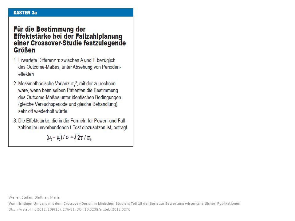 Wellek, Stefan; Blettner, Maria Vom richtigen Umgang mit dem Crossover-Design in klinischen Studien: Teil 18 der Serie zur Bewertung wissenschaftliche