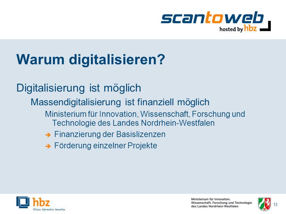 13 Warum digitalisieren.