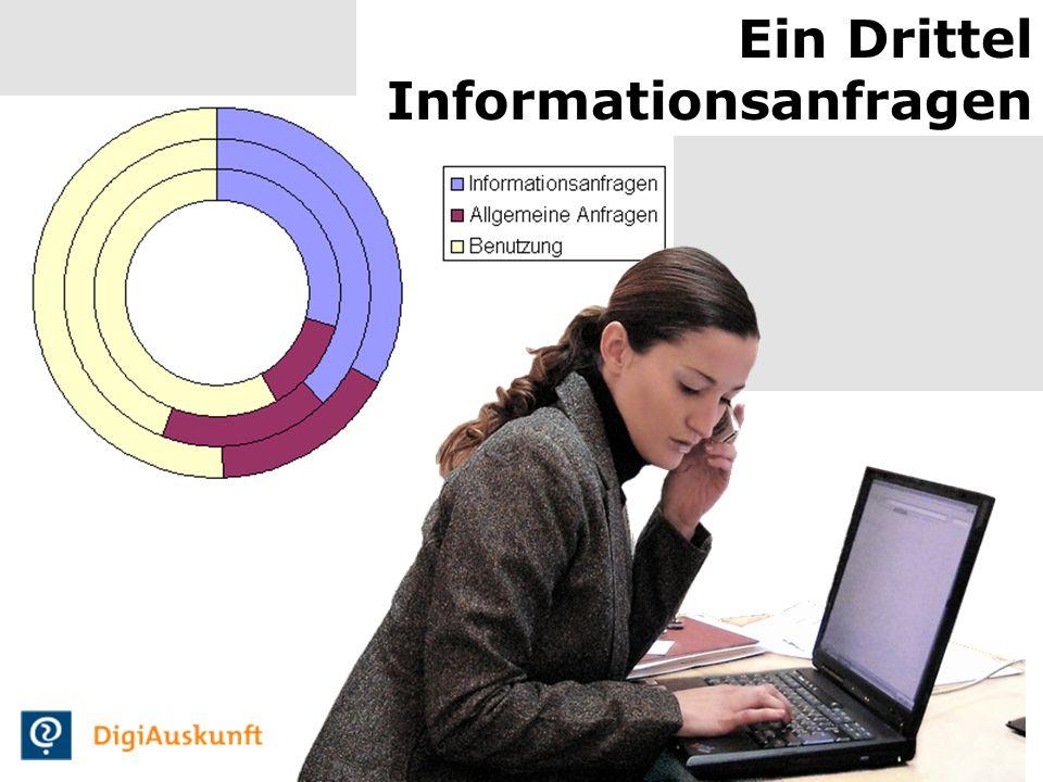 14 Ein Drittel Informationsanfragen