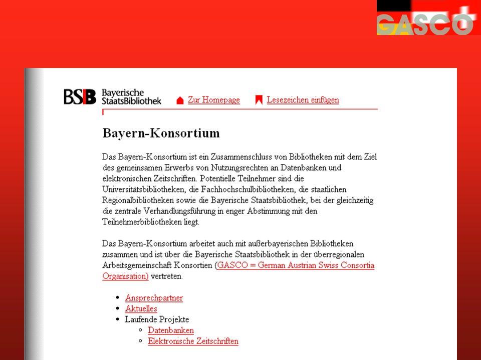www.bsb-muenchen.de/ ejournal/konsort.htm Konsortium Bayern