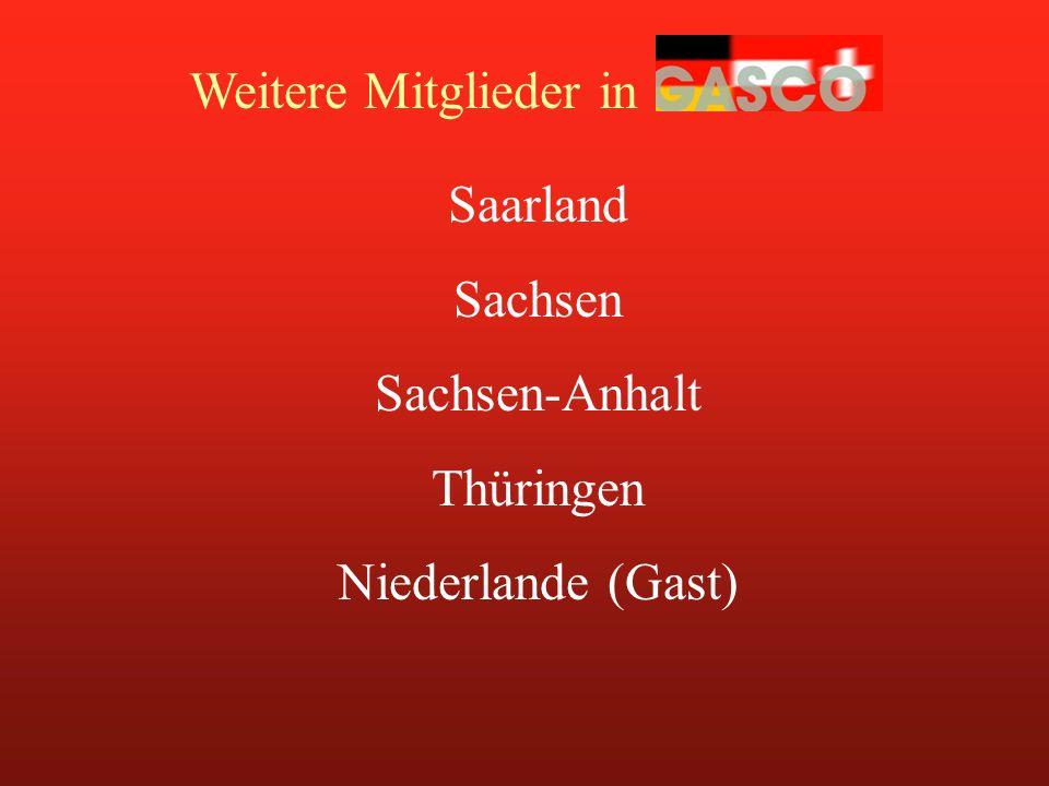 Weitere Mitglieder in Saarland Sachsen Sachsen-Anhalt Thüringen Niederlande (Gast)