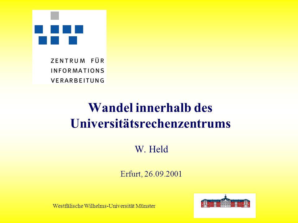 Westfälische Wilhelms-Universität Münster Wandel innerhalb des Universitätsrechenzentrums W.