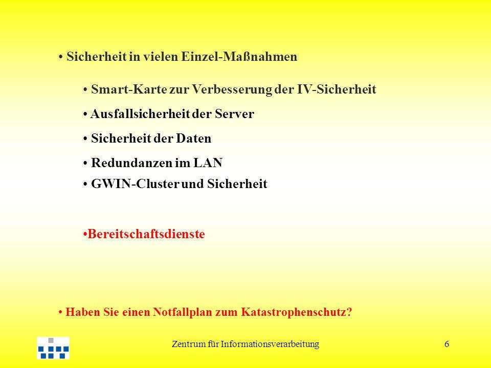 Zentrum für Informationsverarbeitung17 3.Kooperation des HRZ mit...