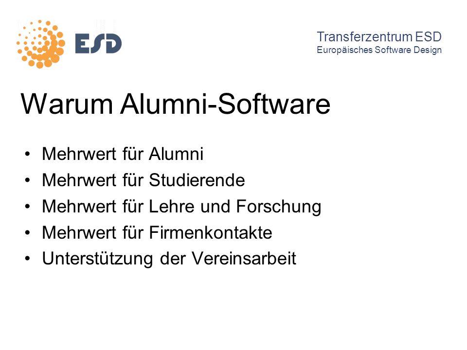 Warum Alumni-Software Mehrwert für Alumni Mehrwert für Studierende Mehrwert für Lehre und Forschung Mehrwert für Firmenkontakte Unterstützung der Vere