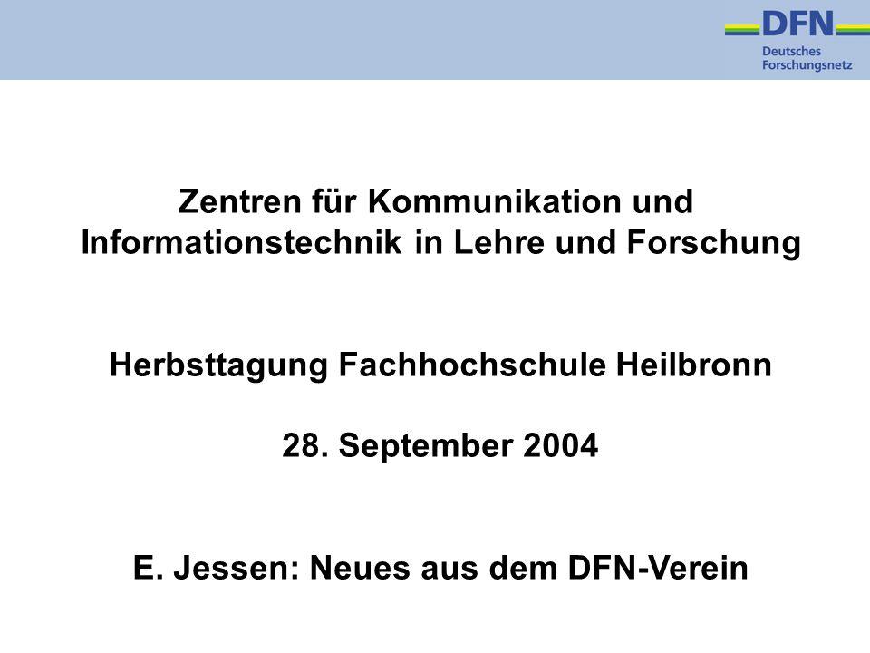 Zentren für Kommunikation und Informationstechnik in Lehre und Forschung Herbsttagung Fachhochschule Heilbronn 28.