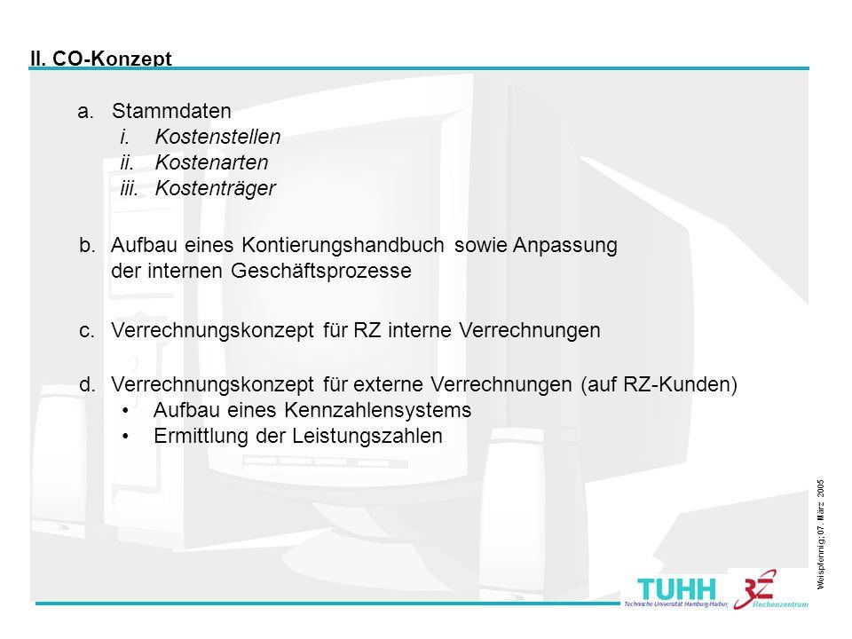25 Weispfennig; 07. März 2005 III. Umsetzung in SAP