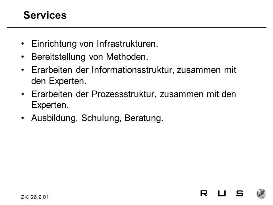 ZKI 26.9.01 Services Einrichtung von Infrastrukturen.