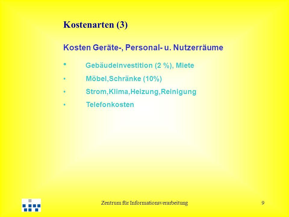 Zentrum für Informationsverarbeitung9 Kosten Geräte-, Personal- u.