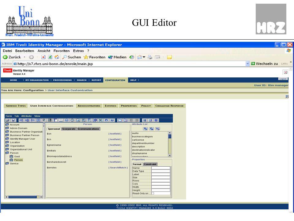 ZKI, März 0425Dipl.-Inform Hans Dieter Petersen GUI Editor