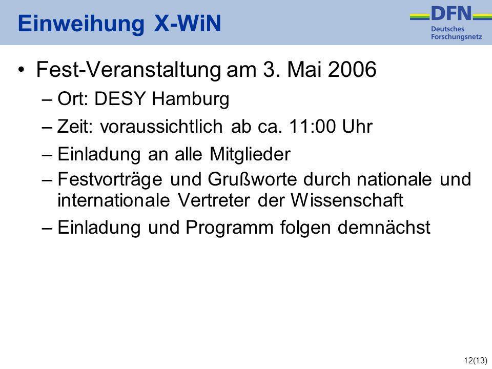 12(13) Einweihung X-WiN Fest-Veranstaltung am 3.