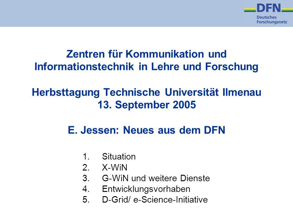 Zentren für Kommunikation und Informationstechnik in Lehre und Forschung Herbsttagung Technische Universität Ilmenau 13.