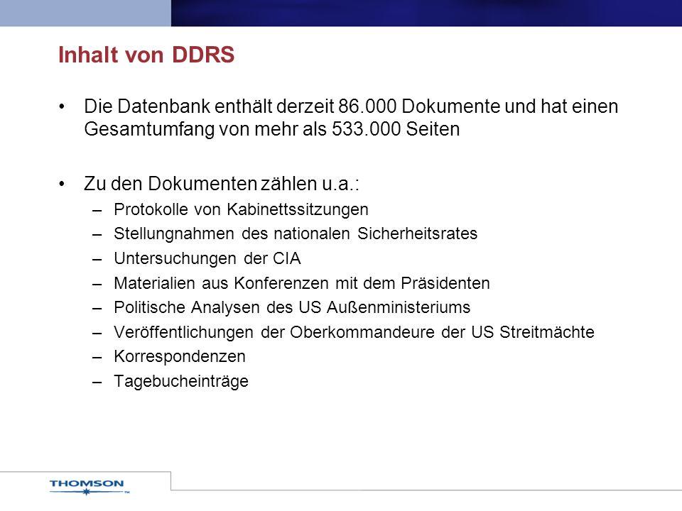 DDRS ist nützlich für......