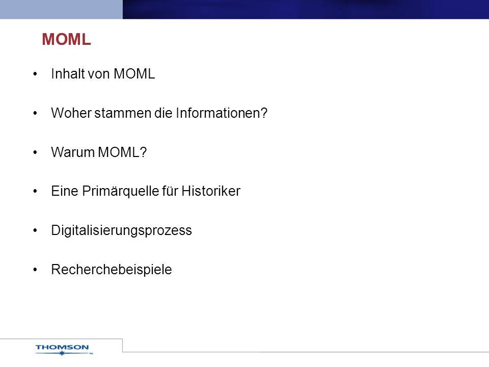Inhalt von MOML Woher stammen die Informationen.Warum MOML.