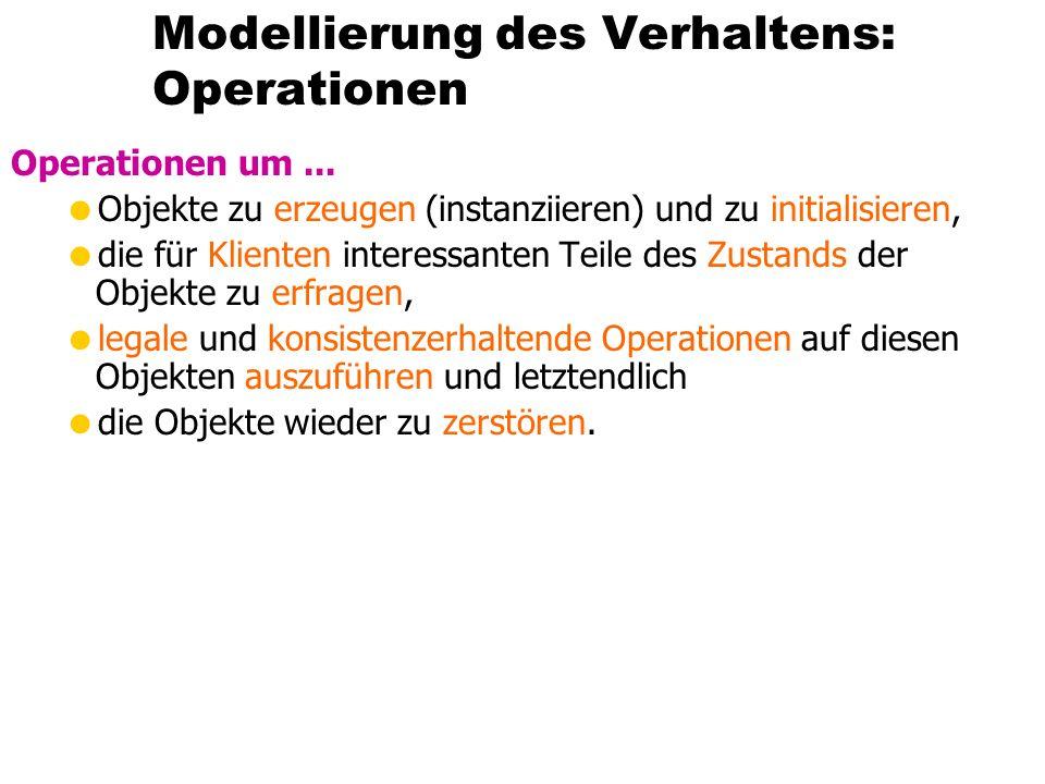 Modellierung des Verhaltens: Operationen Operationen um...