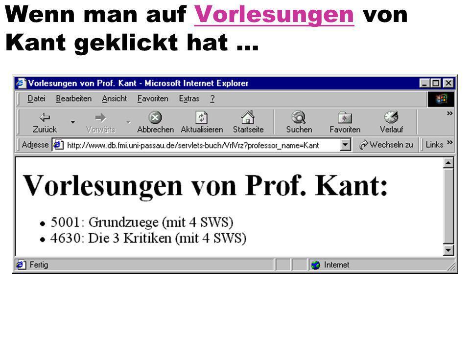 Wenn man auf Vorlesungen von Kant geklickt hat...