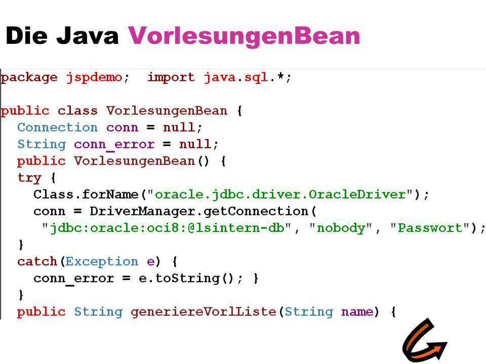 Die Java VorlesungenBean