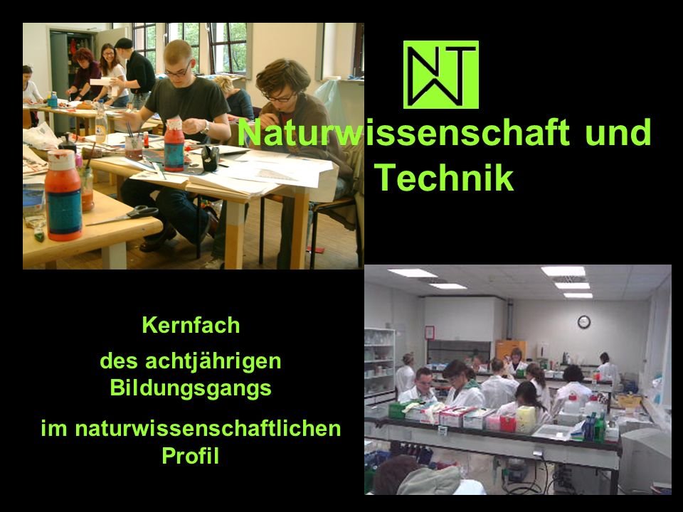 Naturwissenschaft und Technik Kernfach des achtjährigen Bildungsgangs im naturwissenschaftlichen Profil