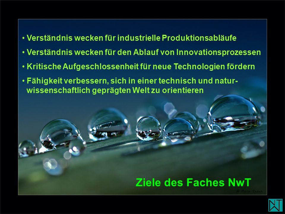Verständnis wecken für industrielle Produktionsabläufe Verständnis wecken für den Ablauf von Innovationsprozessen Kritische Aufgeschlossenheit für neu