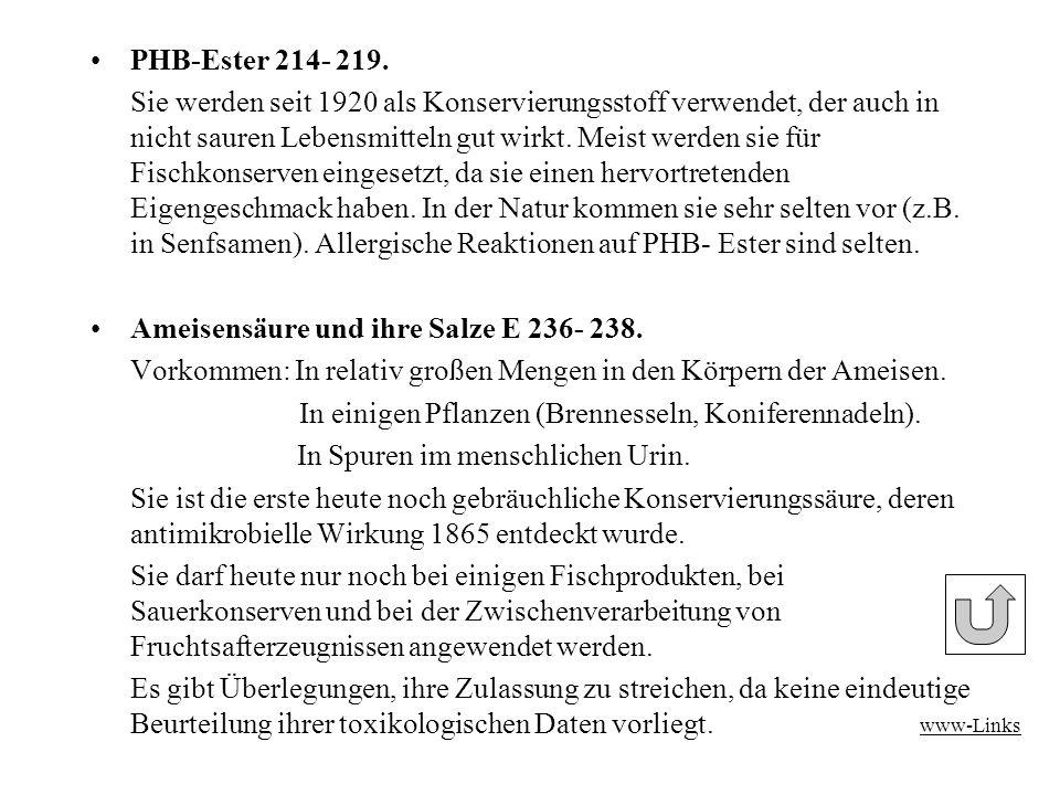 PHB-Ester 214- 219.