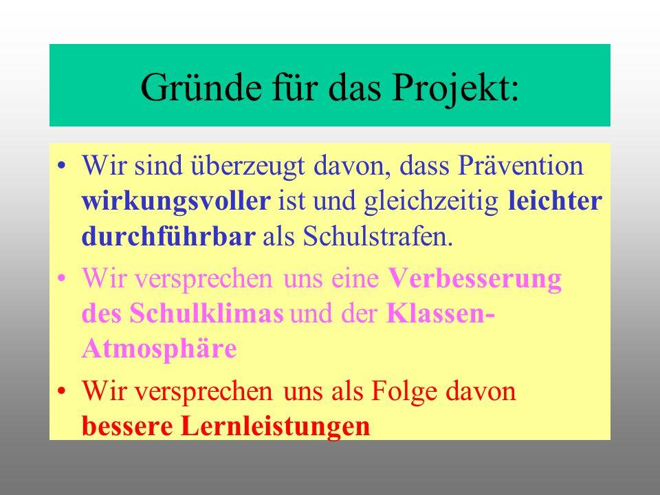 Vorüberlegungen zum Projekt: Gründe für das Projekt Sinn und Zweck des Projektes Teilnehmerkreis + Zielgruppen Angebotspalette Zeitlicher Rahmen Gesta