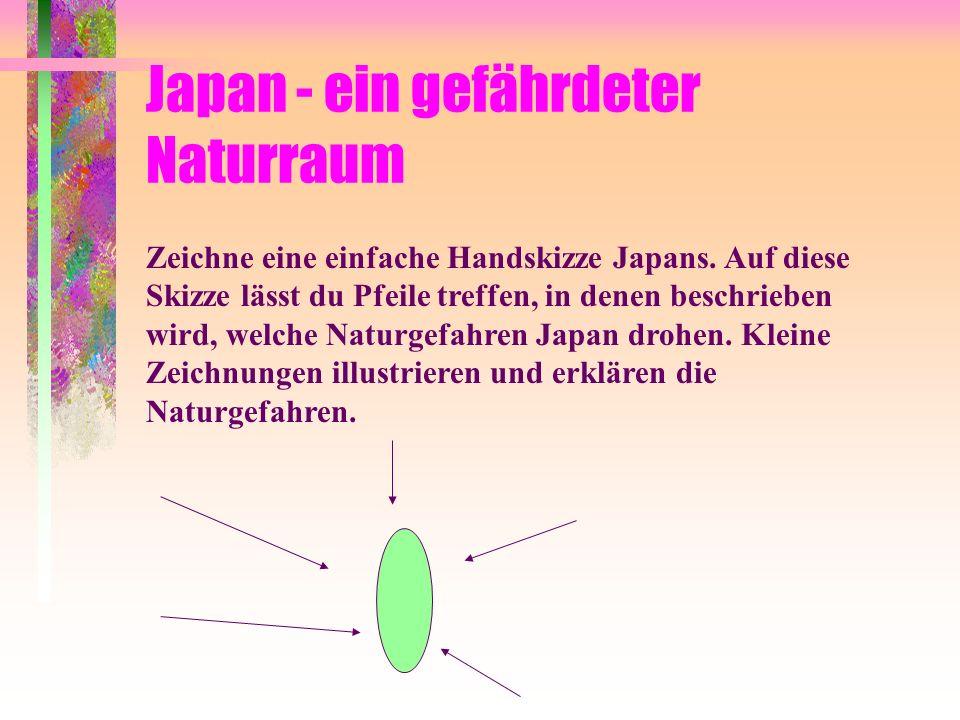 Der wirtschaftliche Erfolg Japans in Gefahr Beschreibe, wodurch der wirtschaftliche Erfolg Japans gefährdet sein könnte. Welche Lösungsmöglichkeiten w