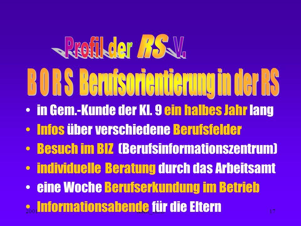 2001KKR_HEL16 In Klassen 7 und 8 Ausbildung an PCs Erwerb von Grundkenntnissen in verschiedenen Programmen ( Erweiterung der Kenntnisse in AGs )
