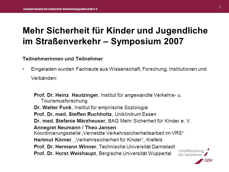 Gesamtverband der Deutschen Versicherungswirtschaft e.V. 4 Zahlen und Fakten