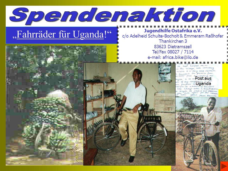 Fahrräder für Uganda.Wie fing es für uns an .