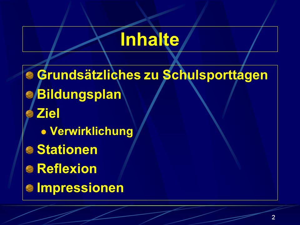 Die Nehrener Spaßolympiade Präsentation am 7. März 2002 Ursula Pfeiffer