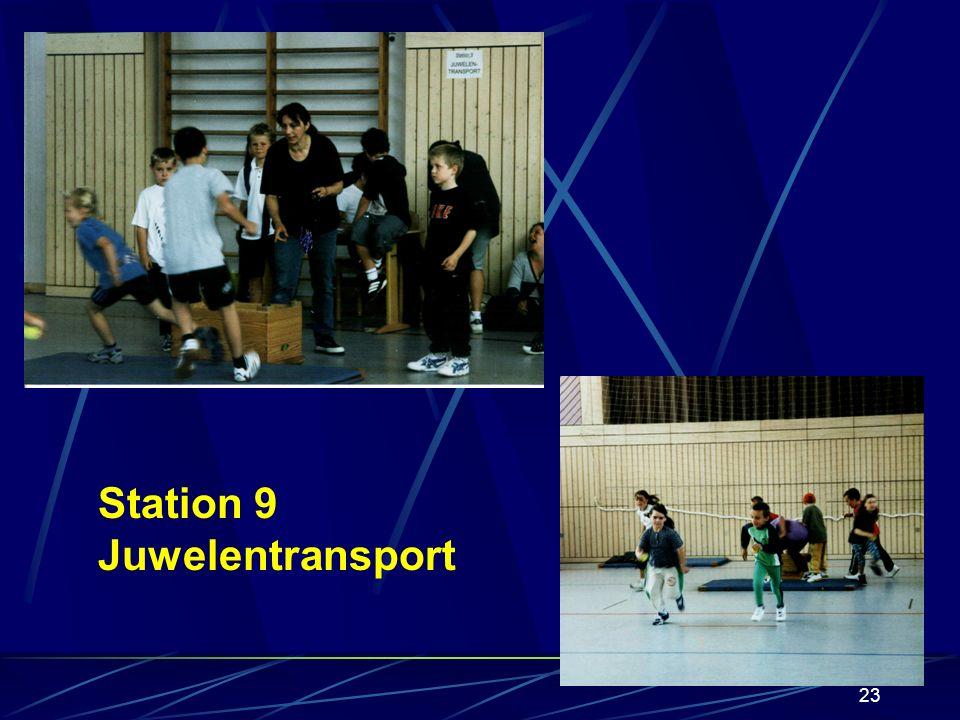 22 Station 8 Rollerslalom Mitja (Klasse 1)