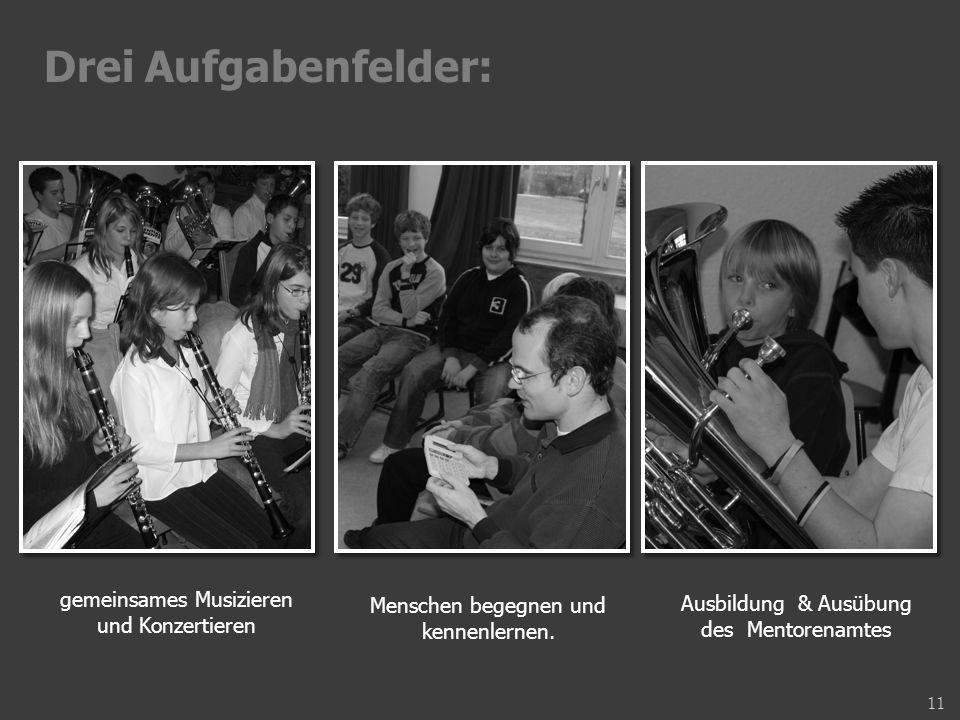 gemeinsames Musizieren und Konzertieren Menschen begegnen und kennenlernen.