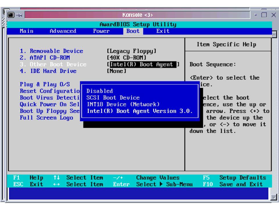 Bootvorgang BIOS umstellen auf CD-boot Installation erfolgt weitgehend selbsttätig vorher Einstellungsdaten sammeln