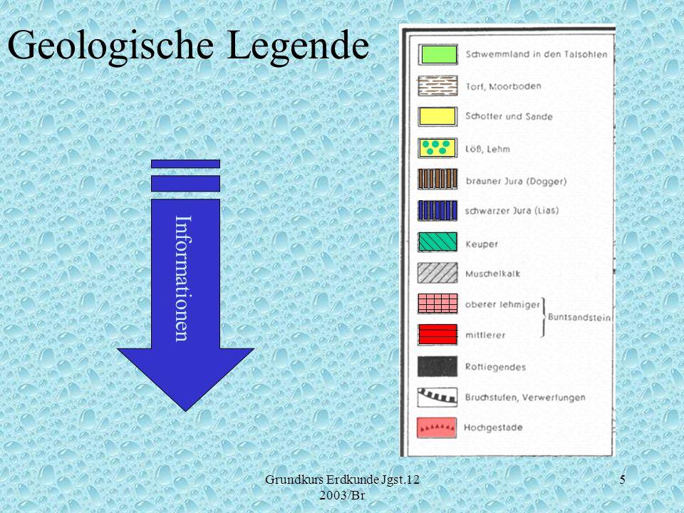 Grundkurs Erdkunde Jgst.12 2003/Br 5 Geologische Legende Informationen