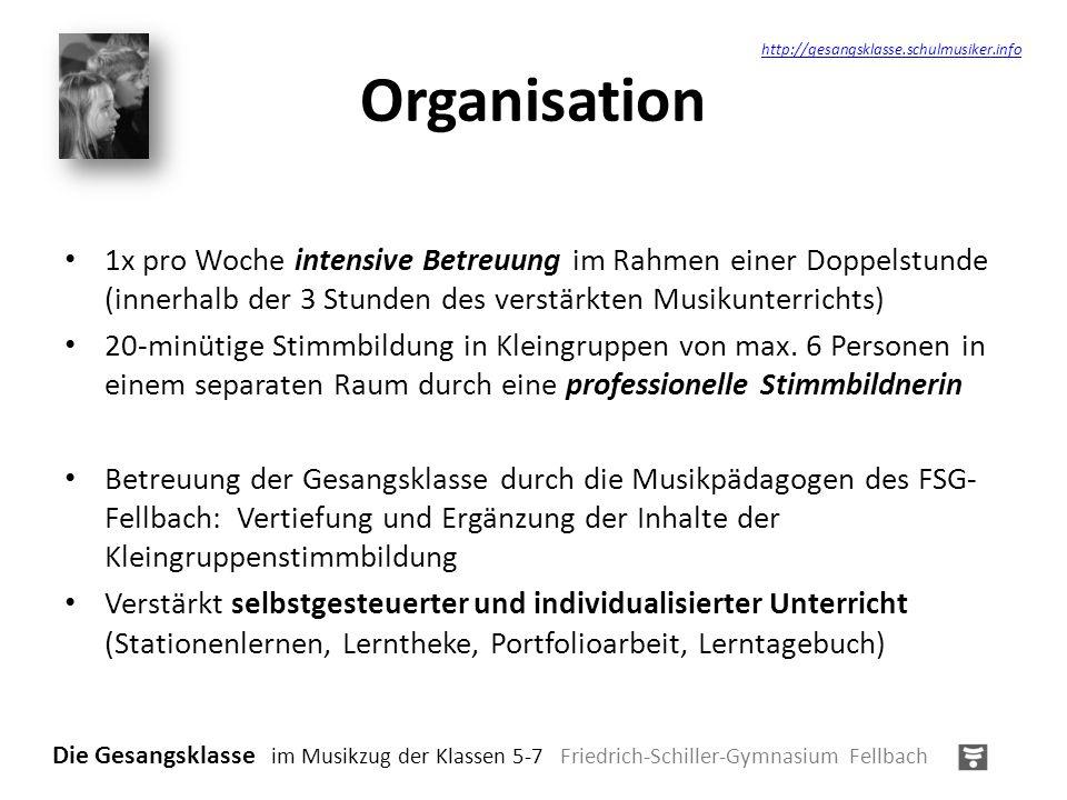 Einbindung Das Besondere unseres Modells: Einbeziehen der Kompetenzbereiche des Bildungsplanes in den Unterricht der Gesangsklassen (u.a.